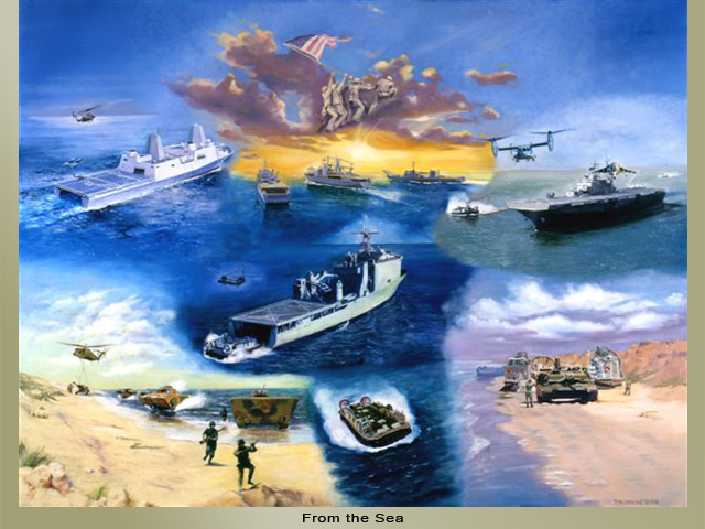 Painting of Naval ships