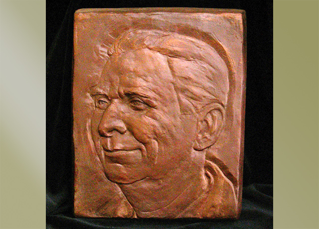 Relief portrait of a man