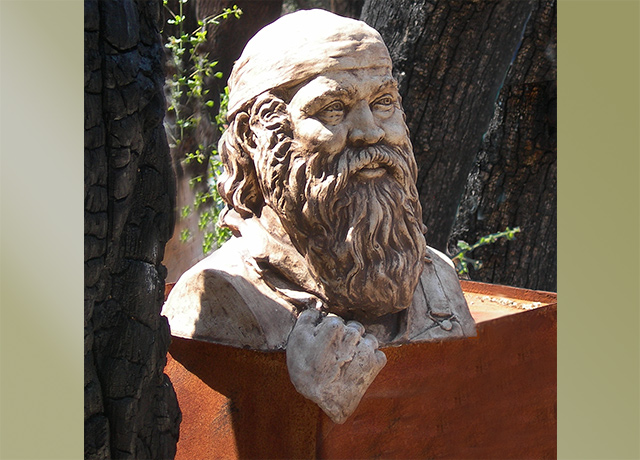 Sculpture Portrait of a Mountain Man